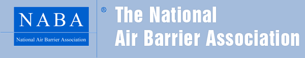 The logo for the National Air Barrier Association (NABA)